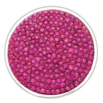 Lucet Mundi dark rose crystal coin - large - Product number 1225774