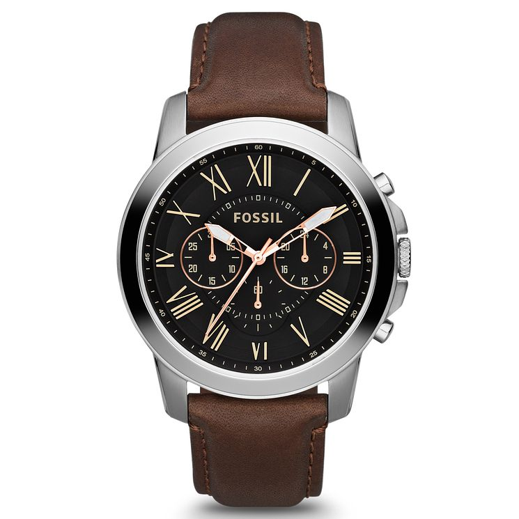 white leather men strap quartz watches military gold sport watch chronograph guanqin brown mens dial case
