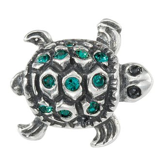 Charmed Memories Sterling Silver Crystal Turtle Charm - Product number 1236962
