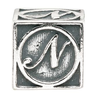 Charmed Memories Sterling Silver N Initial Bead - Product number 1238213