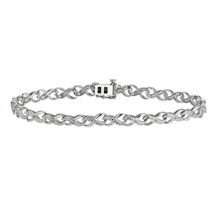 Kiss Collection Silver And Diamond Bracelet - Product number 1245171