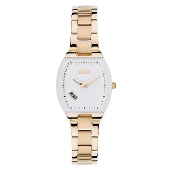 Storm Ladies' White Dial Gold-Plated Bracelet Watch - Product number 1245406