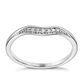 18ct white gold diamond set shaped ring - Product number 1245562
