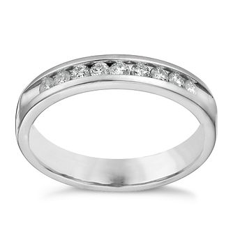18ct white gold 0.25ct diamond channel set eternity ring - Product number 1245813