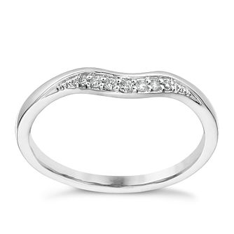 Platinum Diamond Set Shaped Band