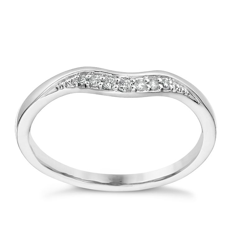 Platinum diamond set shaped band - Product number 1246739