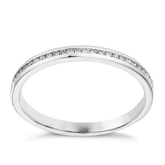 Platinum 10 point diamond channel set ring - Product number 1247409