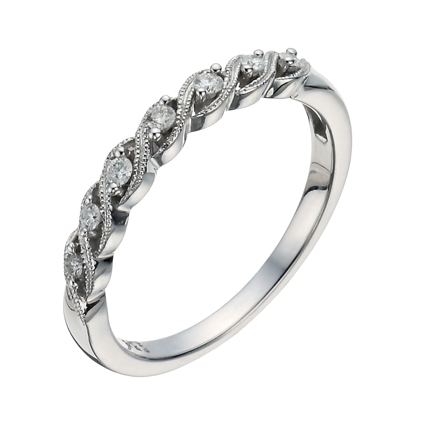 band gold eternity diamond ring top three trio in white micropav wedding jewellery sided rings