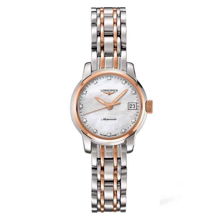 Longines ladies' diamond two colour bracelet watch - Product number 1297589