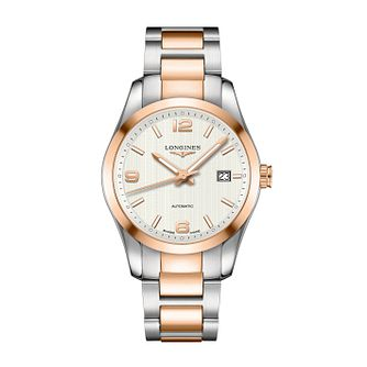 Longines Conquest men's two colour bracelet watch - Product number 1297759