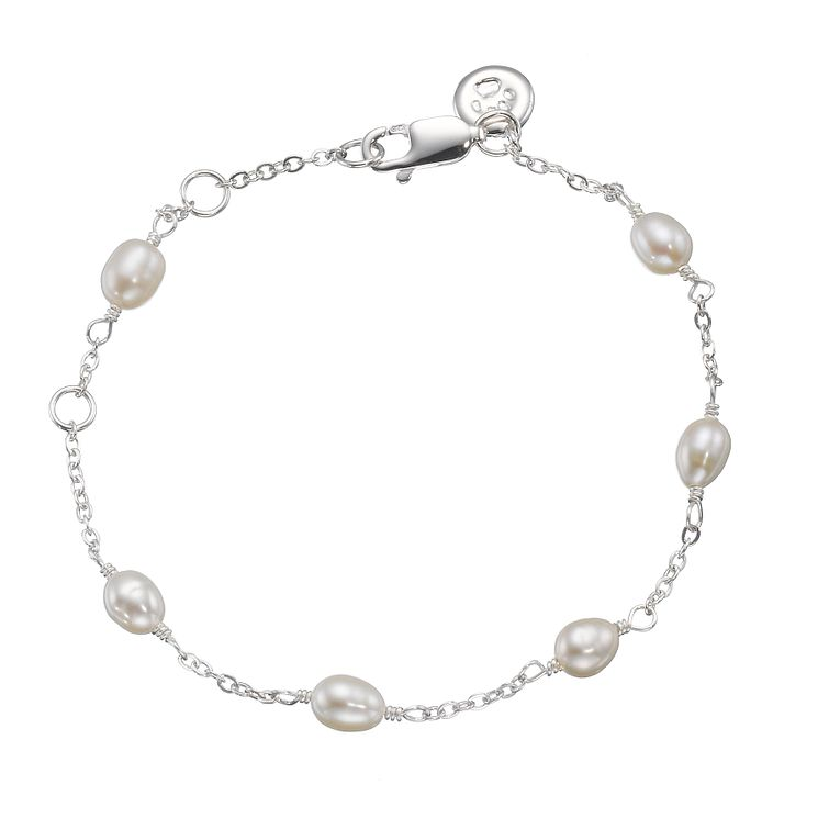 "Molly Brown Sterling Silver 6.75"" Freshwater Pearl Bracelet - Product number 1298534"