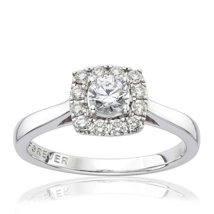 18ct White Gold 1/2 Carat Forever Diamond Ring - Product number 1300776