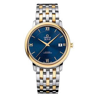 Omega De Ville Prestige men's 37mm two colour bracelet watch - Product number 1301004