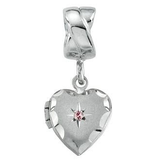 Charmed Memories Heart Charm With Swarovski Crystal Bead - Product number 1313517