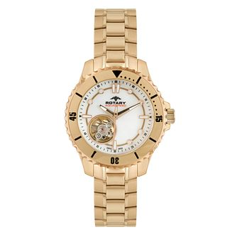 Rotary Aquacore ladies' rose gold bracelet watch - Product number 1318942
