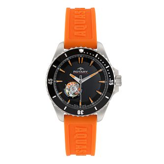 Rotary Aquacore men's orange rubber strap watch - Product number 1318985