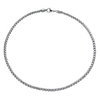 "Stainless Steel 20"" Square Link Chain Necklace - Product number 1335359"