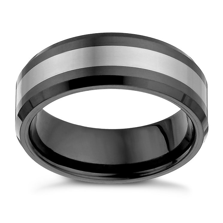 Tungsten & Black Ceramic Ring - Product number 1337823