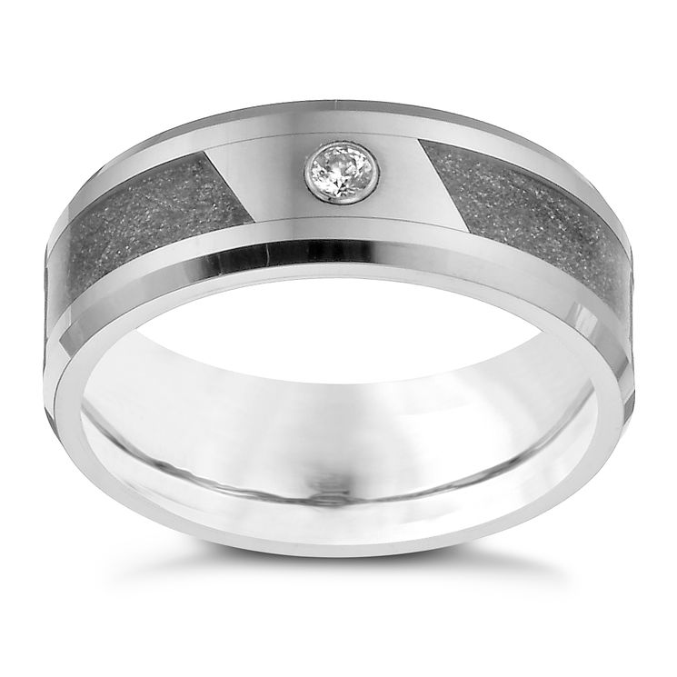 Tungsten & Cubic Zirconia Grey Glitz Ring - Product number 1338099