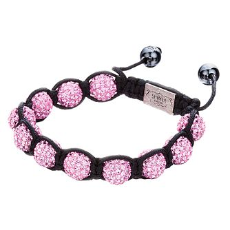 Shimla Pink Crystal Bead Black Rope Bracelet - Product number 1345931