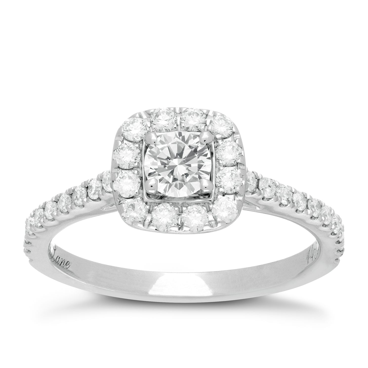 Neil Lane 14ct White Gold 0.75ct Diamond Halo Ring   Product Number 1349430