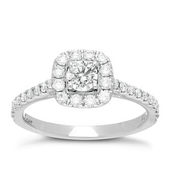 Neil Lane 14ct white gold 0.75ct diamond halo ring - Product number 1349430