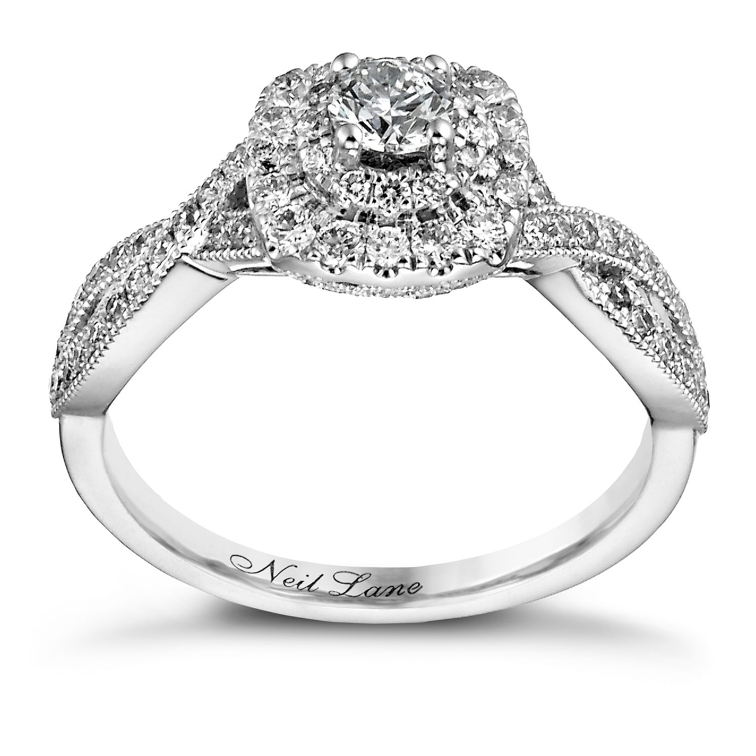 Neil Lane 14ct White Gold 0.75ct Diamond Double Halo Ring   Product Number  1351052