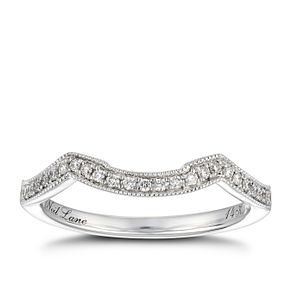 Neil Lane 14ct white gold 0.12ct diamond shaped band - Product number 1351184