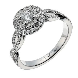 Neil Lane 14ct white gold 0.76ct diamond double halo ring - Product number 1351311