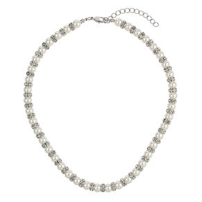 Mikey Imitation Pearl & Crystal Ring Necklace - Product number 1354884