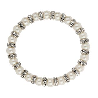 Mikey Imitation Pearl & Crystal Ring Bracelet - Product number 1354892