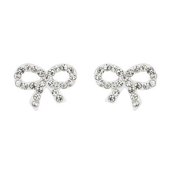 Mikey White Crystal Small Bow Stud Earrings - Product number 1355937