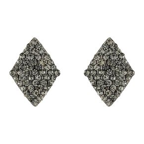 Mikey Black Crystal Diamond Shaped Stud Earrings - Product number 1355945