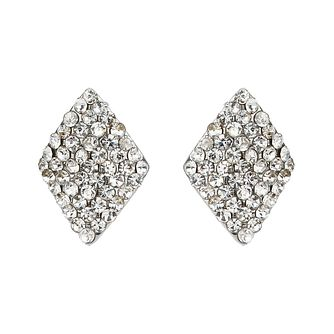 Mikey White Crystal Diamond Shaped Stud Earrings - Product number 1355961