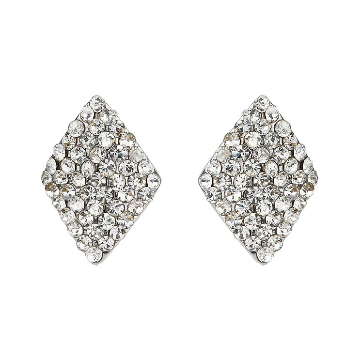 shaped solid stud wh earrings kite diamond gold p