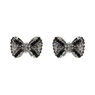 Mikey Black & White Crystal Bow Stud Earrings - Product number 1355988