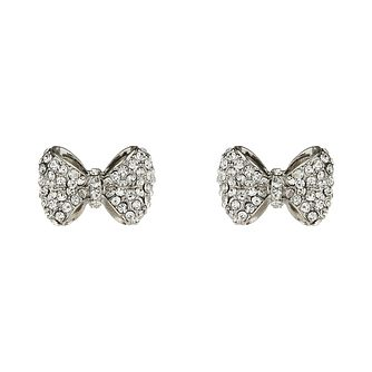 Mikey White Crystal Bow Stud Earrings - Product number 1355996