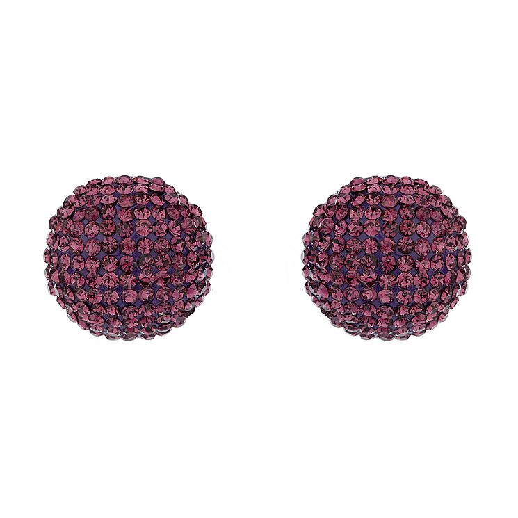 Mikey Purple Crystal Round Stud Earrings - Product number 1356097