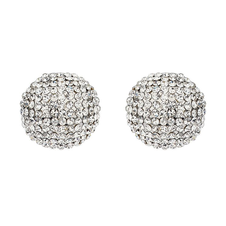 Mikey White Crystal Round Stud Earrings - Product number 1356100
