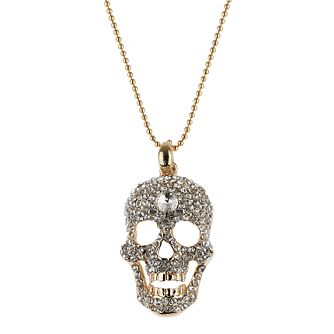Mikey Yellow Crystal Skull Necklace - Product number 1356135