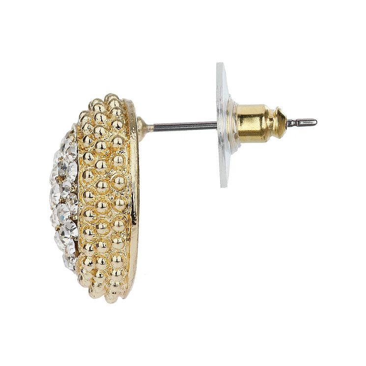 Mikey Yellow Pave Crystal Stud Earrings - Product number 1356208
