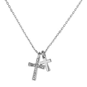 Mikey White Diamante Cross Necklace - Product number 1356267