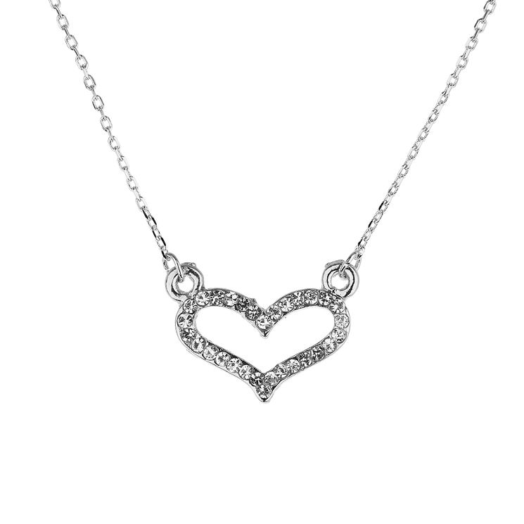 Mikey White Diamante Heart Necklace - Product number 1356283