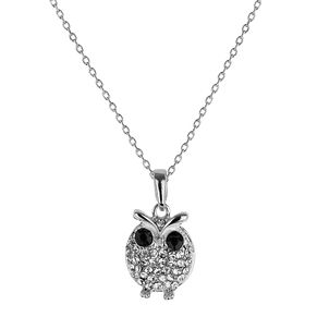 Mikey White Diamante Owl Necklace - Product number 1356305