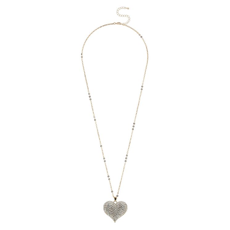 Mikey Yellow Crystal Heart Long Pendant - Product number 1356402