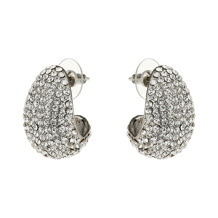 Mikey White Crystal Half Moon Earrings - Product number 1356445