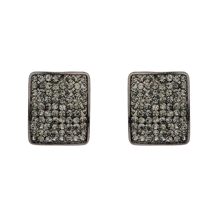 Mikey Black Crystal Square Stud Earrings - Product number 1356461