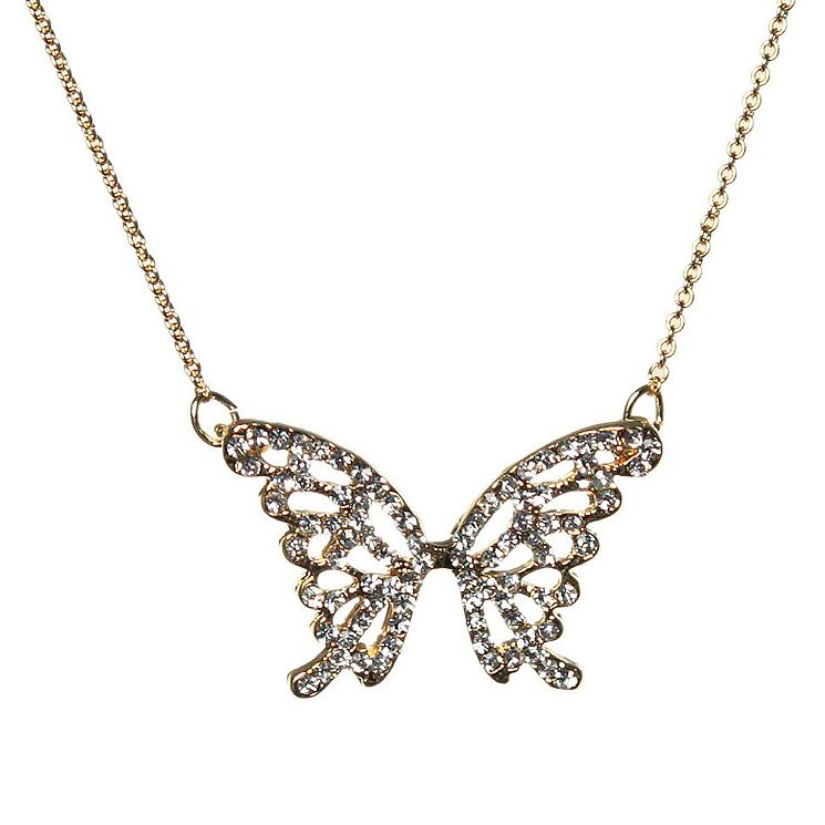 Mikey Yellow Crystal Big Butterfly Necklace - Product number 1356526