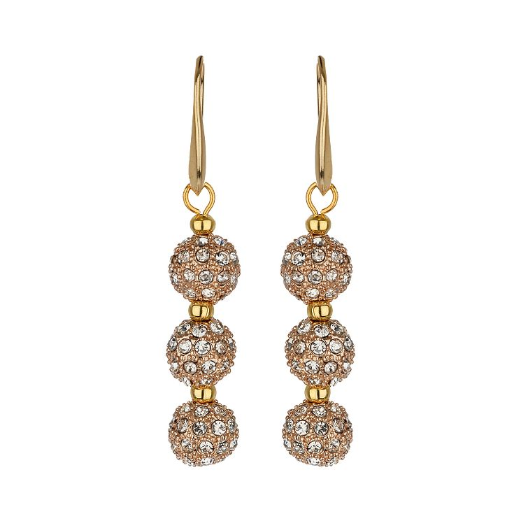 Mikey Yellow Crystal Heavy Drop Earrings - Product number 1356577