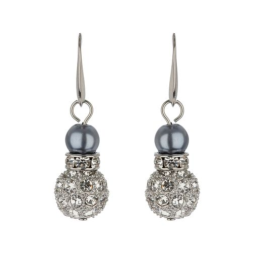 Mikey Hematite Imitation Pearl & Crystal Drop Earrings - Product number 1356607